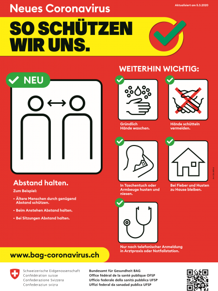 Plakat Coronavirus BAG